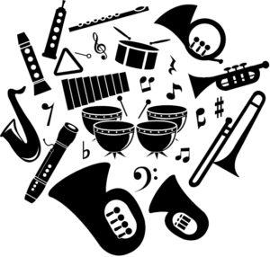 様々な楽器と機材