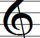 ト音記号の囲み