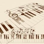 ピアノと譜面